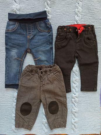 Spodnie chłopięce 68 i 74