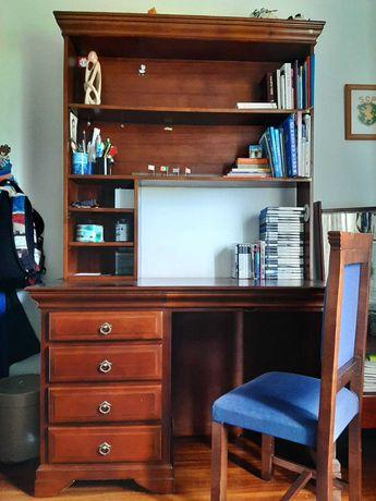 Secretária com estante + Cadeira