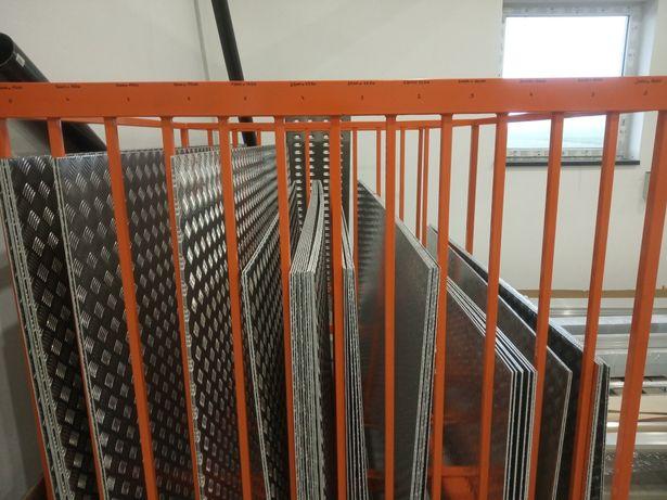 Blacha 2500x1250 aluminiowa ryflowana, 2 mm, przyczepa, laweta, schod