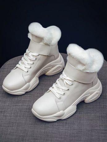 Женские зимние сапожки ботинки экокожа 37 размер