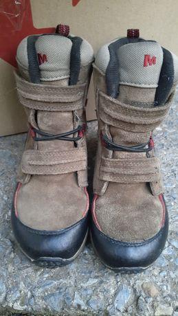 Зимние ботинки замш