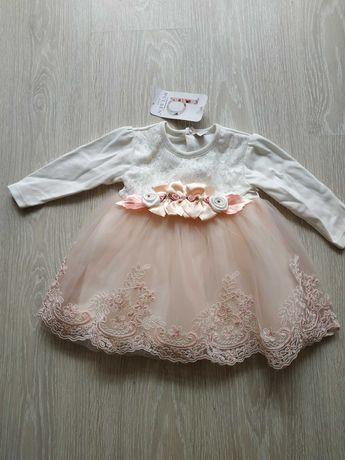 Детское платье для новорожденных