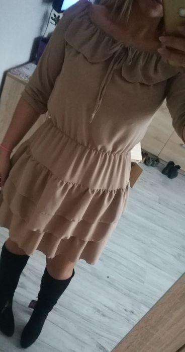 Sukienka w kolorze beżowym Czernichów - image 1