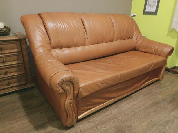 sofa kanapa skórzana rozkładana