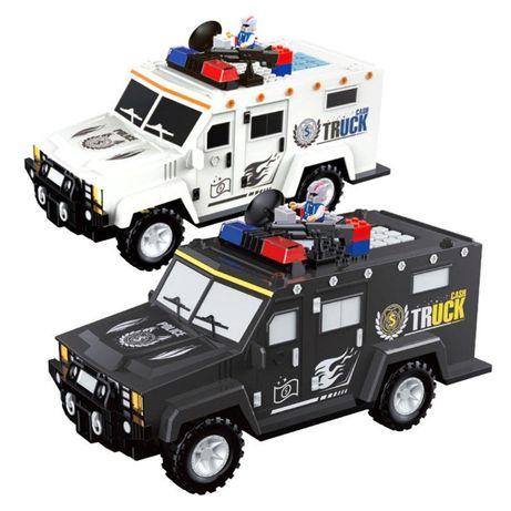 Детский сейф с кодом и отпечатком пальца в виде полицейской машины Cas