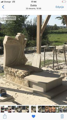 Nagrobek z piaskowca z rzeźbą krzyża PROMOCJA ZIMOWA