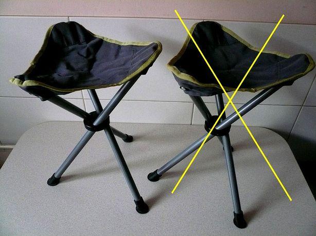 Krzesełka turystyczne z pokrowcami. NOWE.