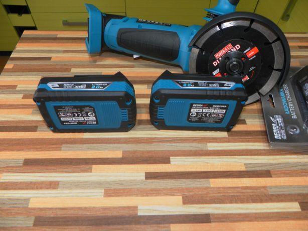 Nowa szlifierka akumulatorowa DEDRA 125 mm , 2xaku 18V 2ah ładowarka
