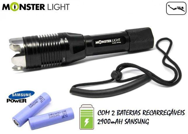 Lanterna mergulho MonsterLight Absolut X1 baterias Samsung (Promoção)