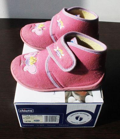 Pantufas / chinelos rosa tipo bota tamanho 27 da Flex Zone da Chicco