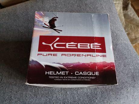 Cebe Contest Visor kask 55-58cm bialy + gogle Legend