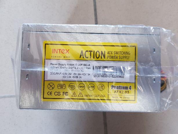 NOWY zasilacz ATX 400W 20+4pin,2sata, 2hdd,1fan