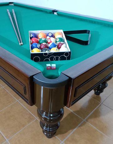 Snooker Bilhar+Montagem e Transporte bolas tacos pano