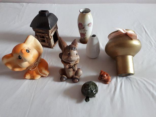 Skarbonka słoń, wazon, świecznik, osiołek, żółw, pies, dekoracje
