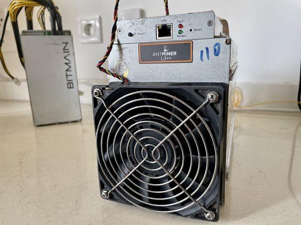 Antminer L3+ 550mhs + PSU Bitmain (litecoin + dogecoin)