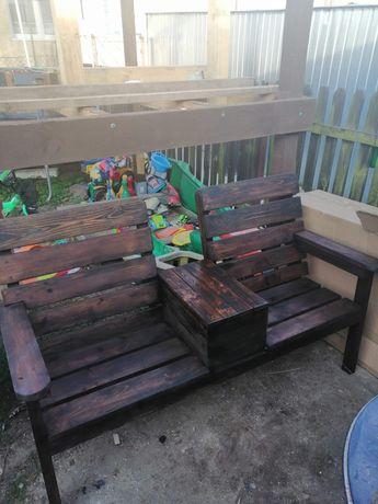 Ławka, fotel,  ogrodowy, taras
