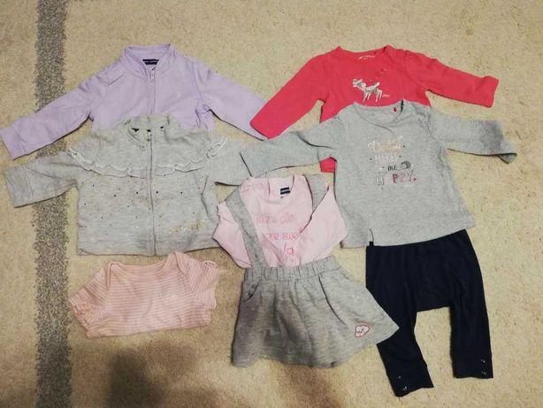 2x bluza ovs i s.olivier, 2x bluzka, body, spodnie,spódnica  roz.62/68