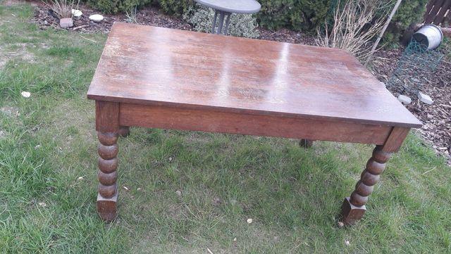 Stół drewniany + 4 krzesla
