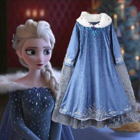 FROZEN - Fantasia Vestido Princesa Elsa (Natal) 4, 5, 7, 8 anos - NOVO