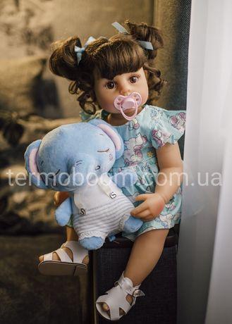 Кукла ляльк reborn 55 см Реборн силиконовая большие куклы можно купать