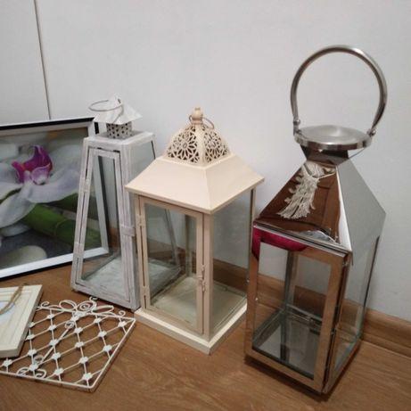 Zamienię zestaw różności lampka latarnia srebrna ramka obraz storczyk