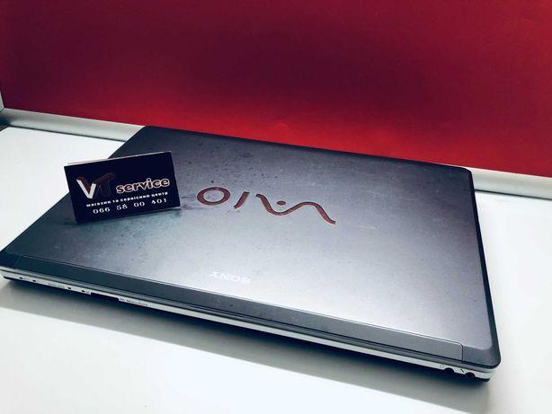 """Ноутбук Соні 17"""" екран 2 ядра 4Gb RAM швидкісний диск SSD240Gb 2год"""