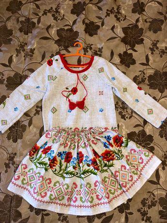 Украинский костюм вышиванка 110 116 128 размер