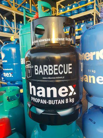 Butla barbecue, butla do grilla, butla gazowa 8kg, hanex, milmet,