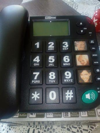 Telefon przewodowy dla seniora KXT 480 maxcom Nowy