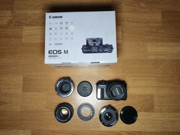 Canon EOS M + 15-45 + adapter EF-EFM + Helios 44M4