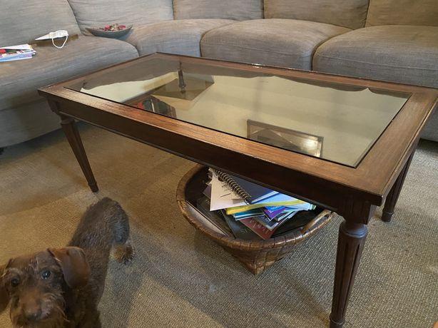 Conjunto mesas de apoio com vidro
