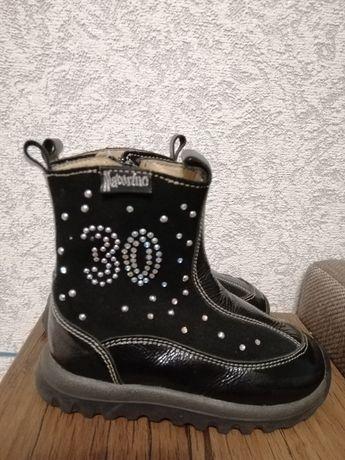 Продам демисезонные кожаные ботинки 24р.