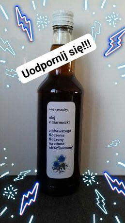 100% olej z czarnuszki tłoczony na zimno