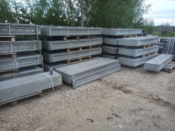 Podmurówka betonowa 25 gładka ramka i piaskowiec ogrodzenie