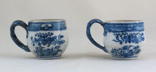 v-Par de cremeiras China Azul Branca Companhia das Índias-Século XVIII