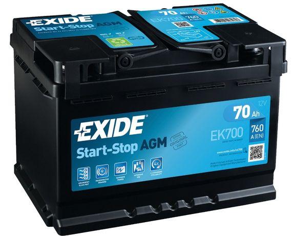 Akumulator EXIDE AGM 70Ah/760A START STOP EK700