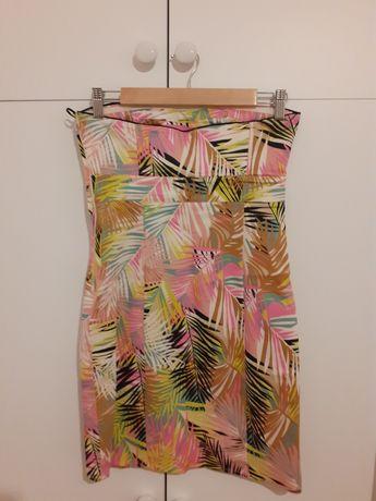 Sukienka bez ramiączek w palmy H&M r. S