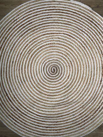 Dywan naturalny jutowy, okrągły