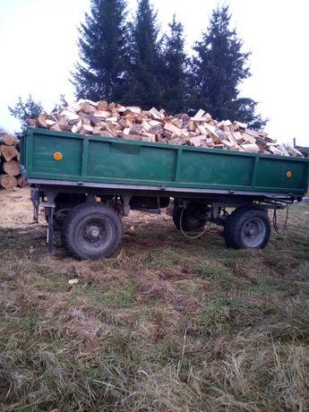 Drewno opałowe pocięte , porąbane.
