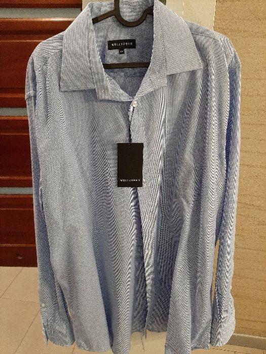 Koszula męska wólczanka niebieska kołnierzyk 45, wzrost 188-194 Milanówek - image 1