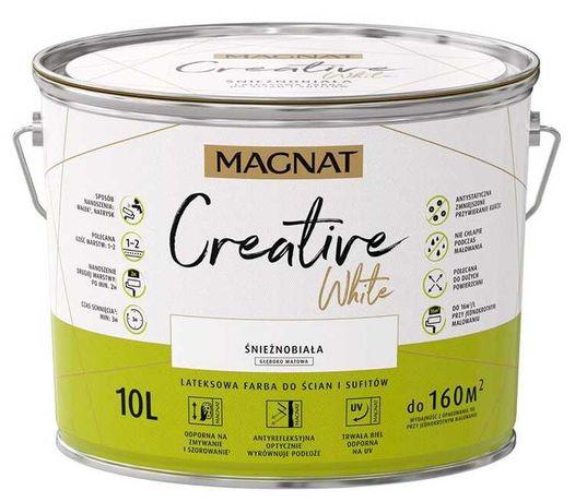 Farba Magnat Creative White Śnieżnobiała 10L