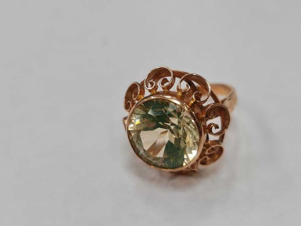 Wiekowy! Wyjątkowy złoty pierścionek/ 585/ 7.89 gram/ R15/ JPU