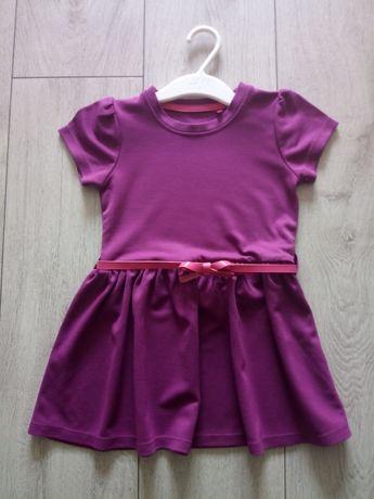 NOWA Sukienka fioletowa z paseczkiem 5 10 15 rozmiar 92