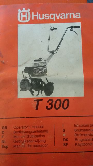 Husqvarna T300 культиватор для обработки земли. Мотоблок.