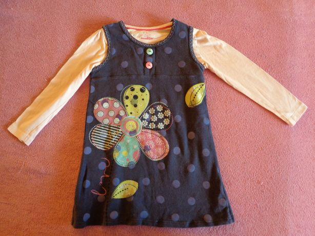 sukienka do przedszkola rozm. 104/110+bluzka Lupilu