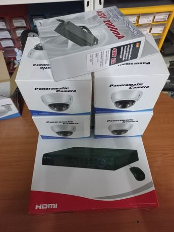 kIT de VideoVigilância IP CCTV com gravador 16ch e 4 câmaras HD PoE