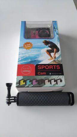 Kamera sportowa 1080p wodoszczelna plus uchwyt