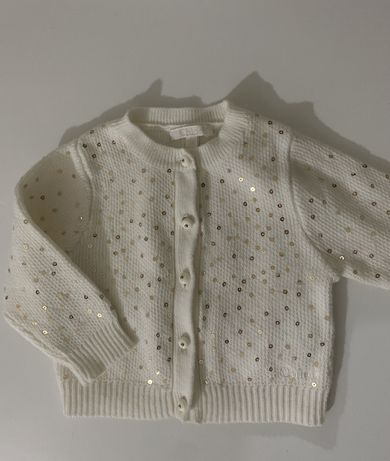 Детский кардиган кофта chloe 0-3 для новорожденной принцессы