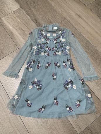 Next sukienka 116 tiul haft