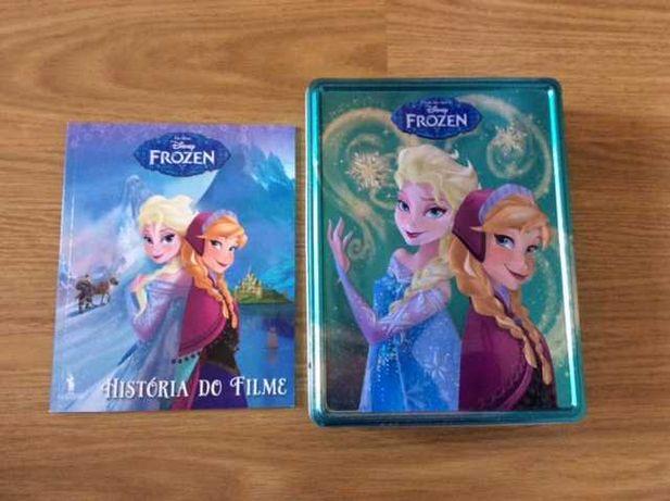 Livro e caixa de metal - História do filme Disney *Frozen*